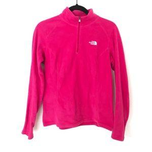 Pink North Face Small Fleece Partial Zip Pullover